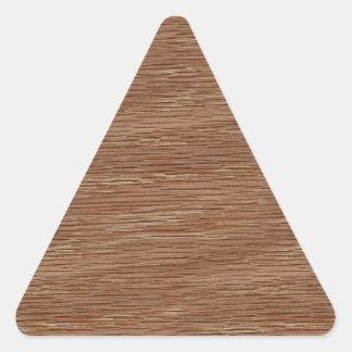 Olhar da grão da madeira de carvalho adesivo triangular