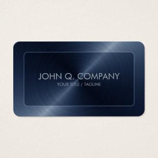 Olhar de aço azul dos cantos arredondados cartão de visitas