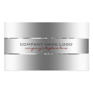 Olhar de aço inoxidável do design de prata cartão de visita