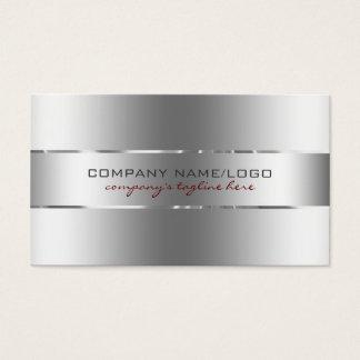 Olhar de aço inoxidável do design de prata cartão de visitas