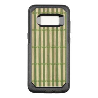 Olhar de bambu da textura da esteira do jade capa OtterBox commuter para samsung galaxy s8