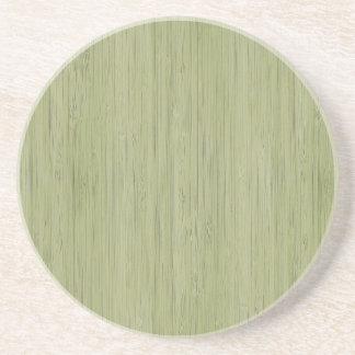 Olhar de bambu natural no verde de musgo porta-copos