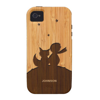 Olhar de bambu & príncipe pequeno gravado com Fox Capinhas iPhone 4/4S