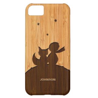 Olhar de bambu & príncipe pequeno gravado com Fox Capa Para iPhone 5C