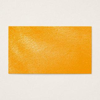 Olhar de couro alaranjado brilhante cartão de visitas