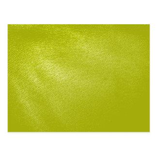 Olhar de couro amarelo dourado cartão postal