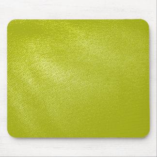 Olhar de couro amarelo dourado mouse pad