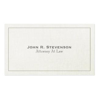 Olhar de linho macio do advogado clássico cartão de visita