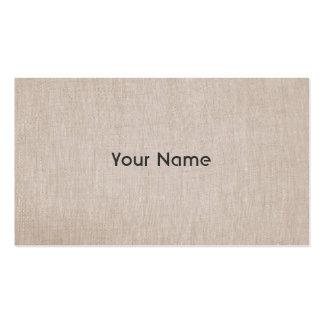 Olhar de linho natural do professor do zen de modelos cartão de visita