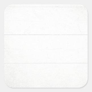 Olhar de madeira branco da textura adesivos quadrados