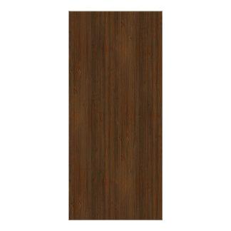 Olhar de madeira de bambu da grão de Brown da noz 10.16 X 22.86cm Panfleto