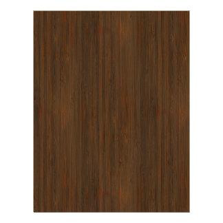 Olhar de madeira de bambu da grão de Brown da noz Flyer 21.59 X 27.94cm