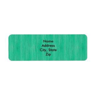 Olhar de madeira de bambu da grão do verde de mar etiqueta endereço de retorno