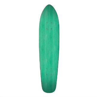 Olhar de madeira de bambu da grão do verde de mar shape de skate 18,4cm
