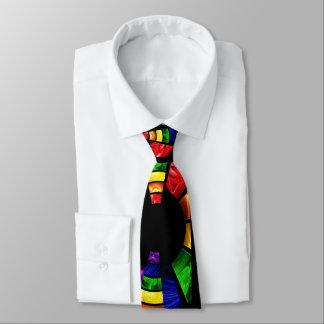olhar de vidro da mancha brilhante da cor gravata
