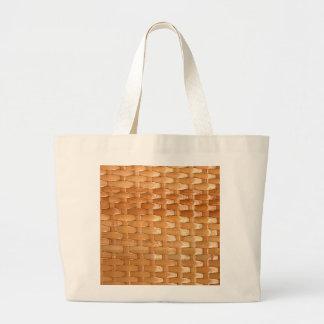 Olhar de vime da textura de Basketweave da laca Sacola Tote Jumbo
