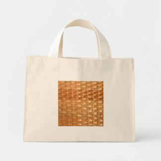 Olhar de vime da textura de Basketweave da laca Sacola Tote Mini