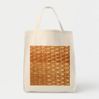 Olhar de vime da textura de Basketweave da laca Sacola Tote De Mercado