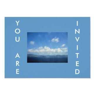 Olhar do azulejo de mosaico do paraíso da ilha do convite personalizados