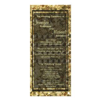 Olhar do brilho do diamante e do ouro do falso 10.16 x 22.86cm panfleto
