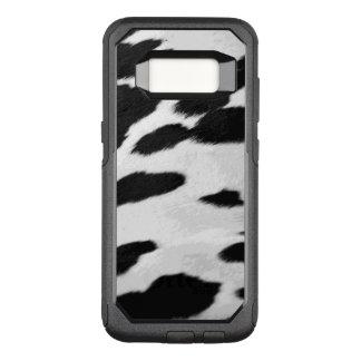 Olhar do couro cru da vaca de Holstein do Capa OtterBox Commuter Para Samsung Galaxy S8