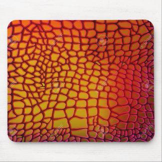 Olhar do couro da pele do dragão mousepad