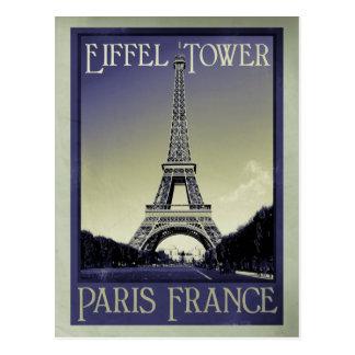 olhar do vintage de Paris france Cartão Postal