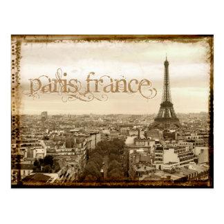 olhar do vintage de Paris france Cartao Postal