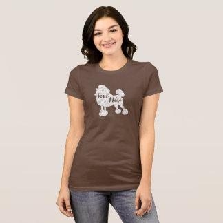 Olhar do vintage do t-shirt da caniche da alma camiseta