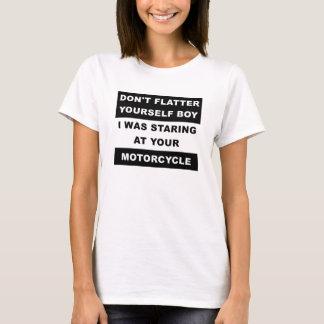 Olhar fixamente em sua camiseta engraçada da