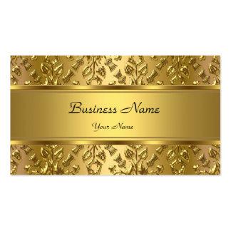 Olhar gravado do ouro damasco elegante elegante cartão de visita