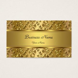 Olhar gravado do ouro damasco elegante elegante cartão de visitas
