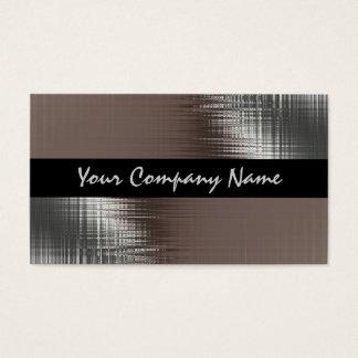 Olhar legal do metal em cartões de visitas pretos