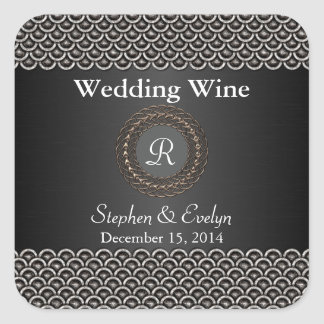 Olhar metálico elegante que Wedding a mini Adesivo Quadrado