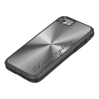 Olhar radial metálico de aço inoxidável capa iPhone 8/ 7
