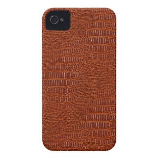 Olhar realístico da pele do jacaré de Brown Capinhas iPhone 4