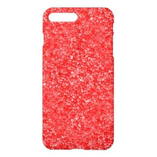 Olhar vermelho coral do cascalho capa iPhone 7 plus