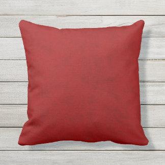 Olhar vermelho de veludo do jogador da peônia almofada para ambientes externos