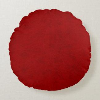 Olhar vermelho de veludo do jogador da peônia almofada redonda