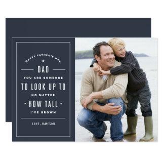 Olhe acima ao cartão do dia dos pais