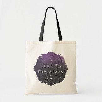 Olhe ao saco das estrelas sacola tote budget