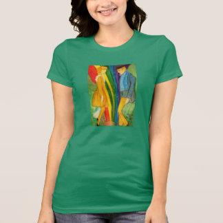 Olhe ao T das senhoras do dia de Patrick de santo T-shirt