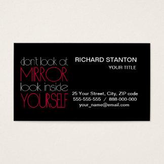 Olhe dentro do senhor mesmo cartão de visitas