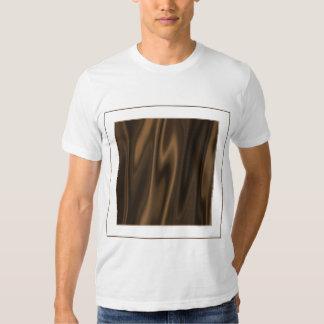 Olhe do tecido castanho chocolate liso do cetim camisetas