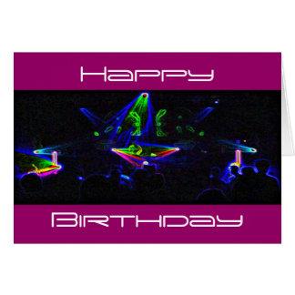 Olhe o cartão de aniversário da rotação do DJ