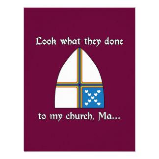 Olhe que eles feitos a minha igreja mães… papel de carta