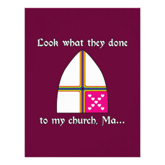 Olhe que eles feitos a minhas mães da igreja papel de carta personalizados