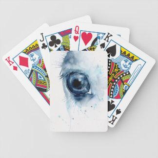 Olho abstrato do cavalo da aguarela jogos de baralhos