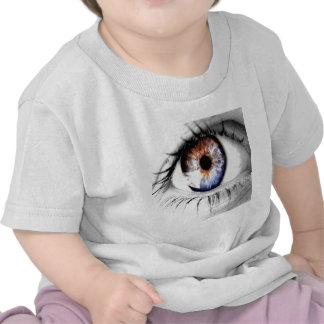 Olho abstrato largamente aberto t-shirt