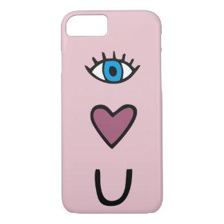 Olho, coração, U - eu te amo capa de telefone